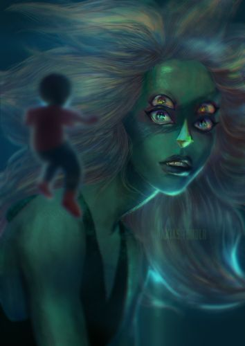 Realistic Malachite - Steven Universe fan Art
