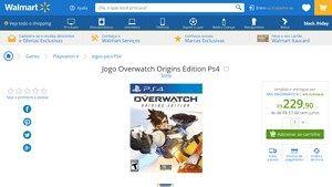 [Wal-Mart] Jogo Overwatch Origins Edition Ps4 3405681 - de R$ 249,90 por R$ 229,90 (8% de desconto)