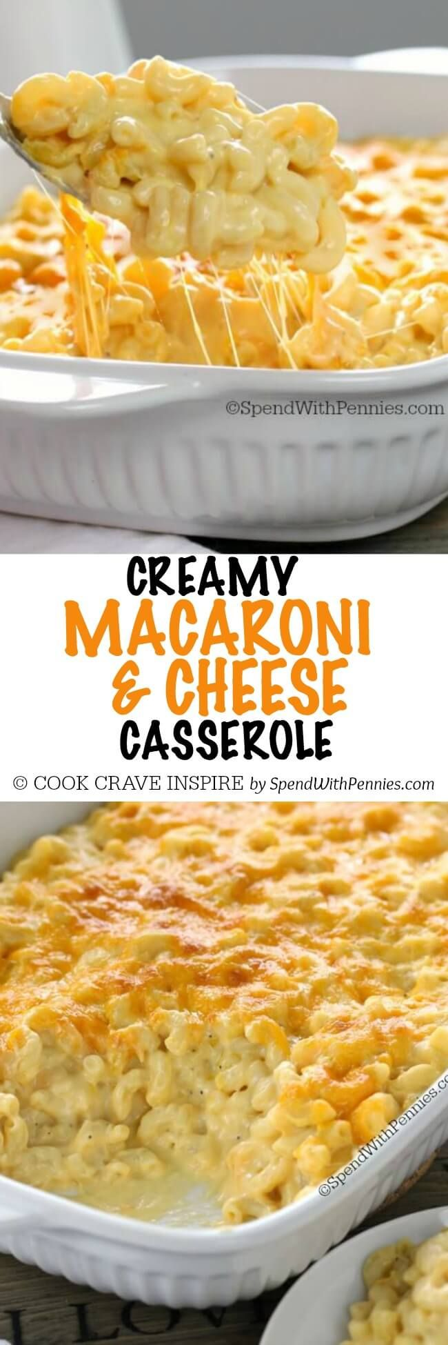 This Creamy Macaroni and Cheese Casserole - should be easy to adapt to gf if I can find condensed cream of cheddar soup