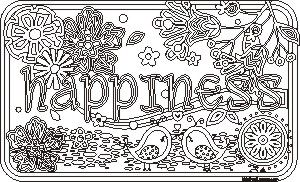 Adult Coloring Happiness | Kids Free Fun Page