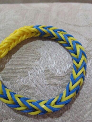 Blue and yellow fishtail