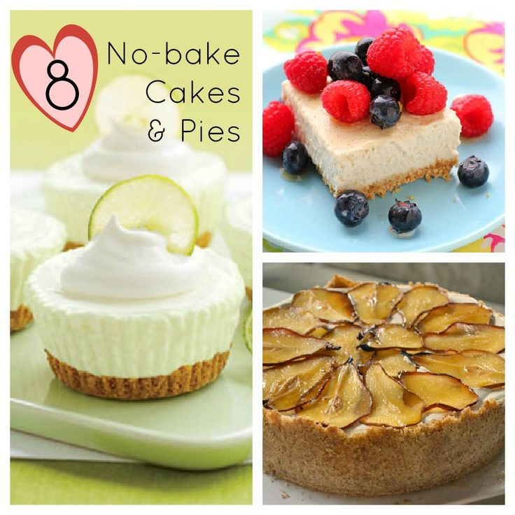 8 No-bake Cakes and Pies STRAWBERRY RHUBARB CHEESECAKES IN A JAR !!!
