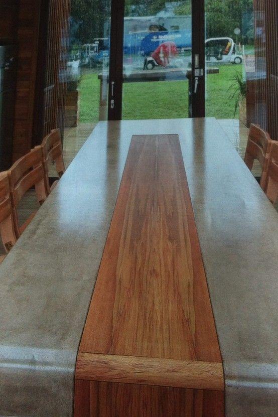 mesa concreto y madera                                                                                                                                                                                 Más