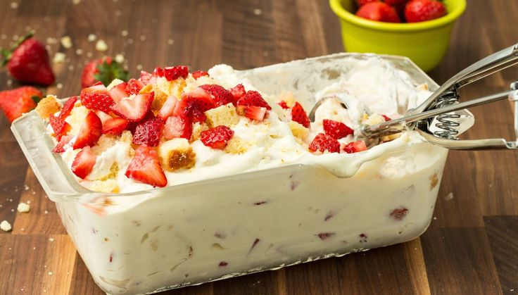 Strawberry Shortcake No-Churn Ice Cream