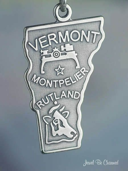Vermont Charm Sterling Silver State America USA by jewelbecharmed