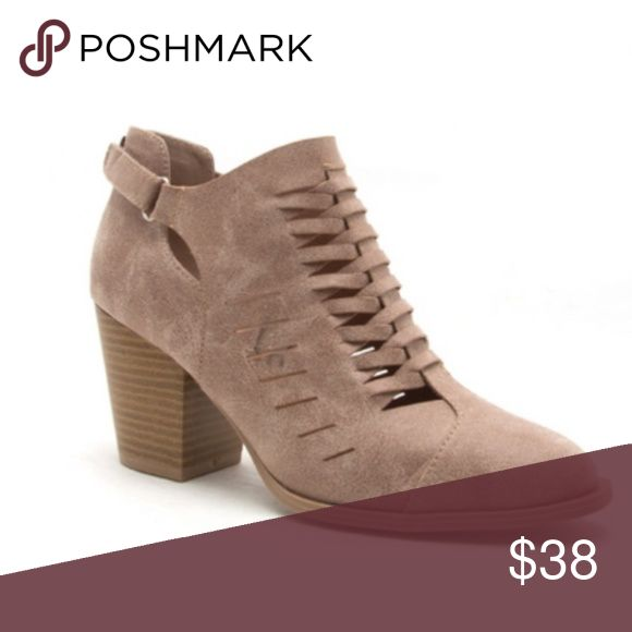 🌻Taupe Suede Cut Out Bootie by Qupid🌻 Comfortable, trendy and stylish block heel cutout booties. Perfect addition for your Fall wardrobe.  These run true to size.  Bundle the items you like for a personal discount.  The more items in your bundle the larger discount I can offer.  Thank you for shopping my boutique! Qupid Shoes Ankle Boots & Booties