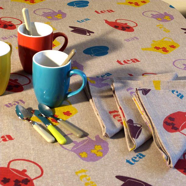 57 best linge de table nappes torchons images on pinterest table linens tablecloths. Black Bedroom Furniture Sets. Home Design Ideas