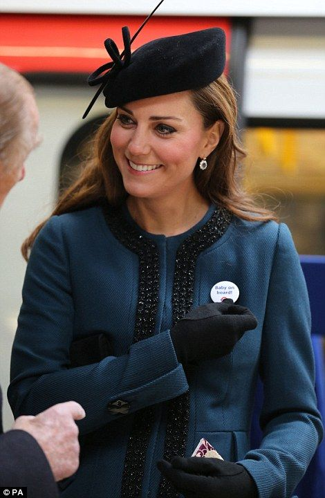 The Duchess of Cambridge wearing one of the badges we made back in March 2013 :).