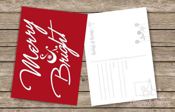 Cărți postale numai bune pentru a răspândi Magia sărbătorilor de Iarnă    Cherry & Cherry PRINTS #craciun #christmascards #cherrycherryprints #cadouridecraciun