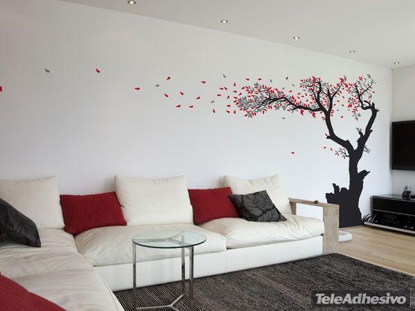 Adesivi Murali foglie degli alberi 2