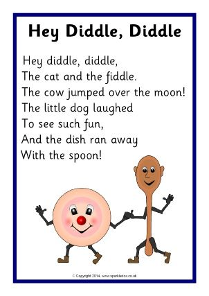 Free Printable Nursery Rhyme Lyrics Sheets For Eyfs And Primary Teachers
