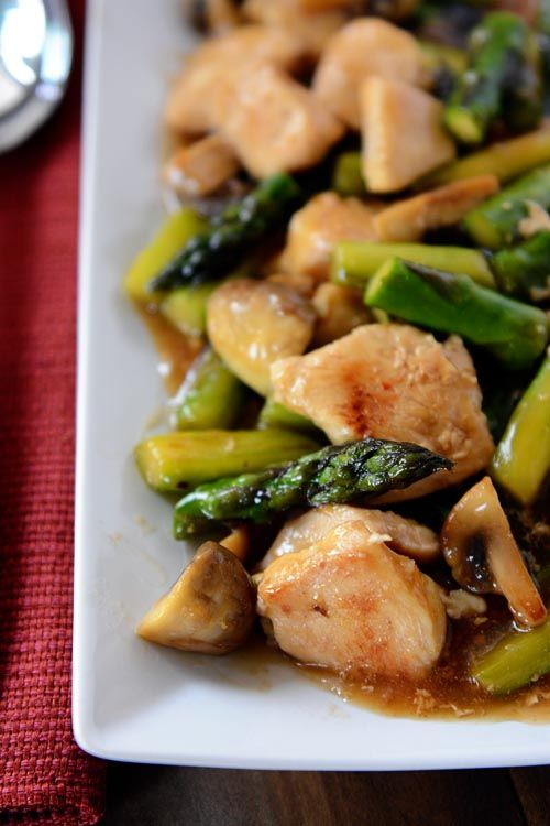 Healthy Chicken and Asparagus Stir-Fry | Mel's Kitchen Cafe