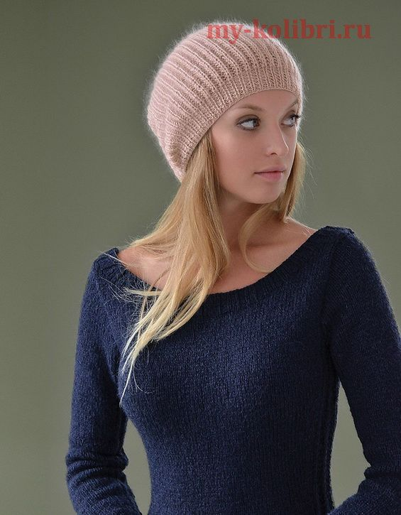 Вязание простой шапки спицами от дизайнера Kim Hargreaves: схема и описание на сайте Колибри. Вы романтичная и мечтательная особа? Тогда эта модель шапочки простым узором для вас!