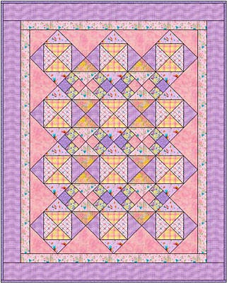 In the Pinks Baby Quilt
