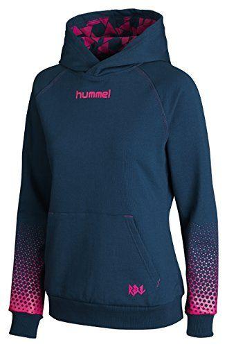 Hummel Damen Sweatshirt Rebel Womens Hoodie, Legion Blue/Pink Glo, XS, 36-505-8557