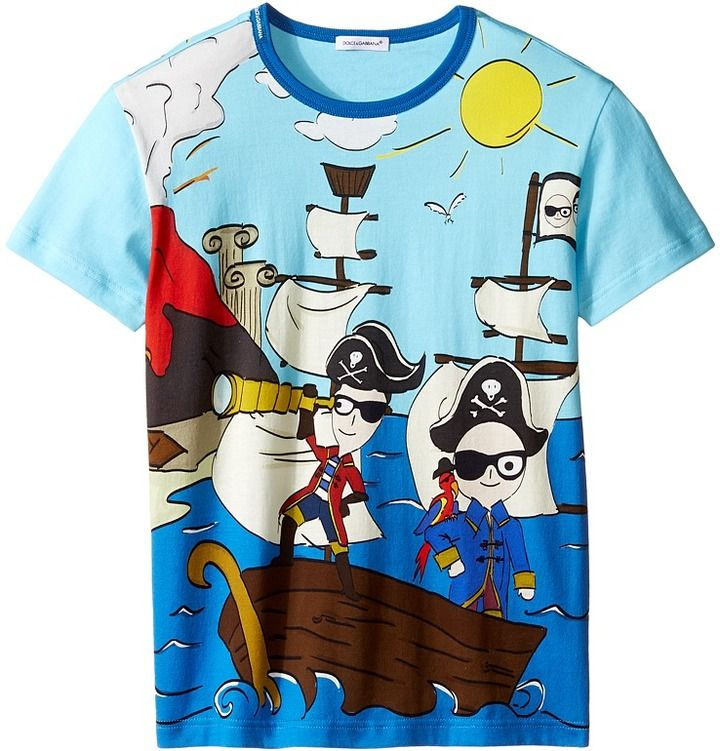 Dolce & Gabbana Mare Sicily Pirate T-Shirt (Big Kids)