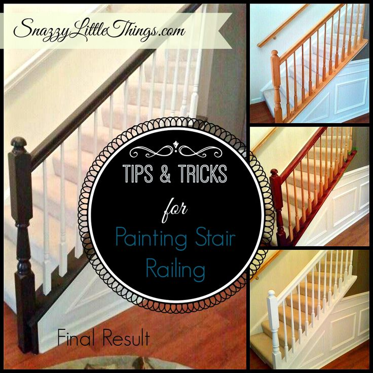 DIY: Painting Stair Railings & Fixing Color Mistakes dark brown railing