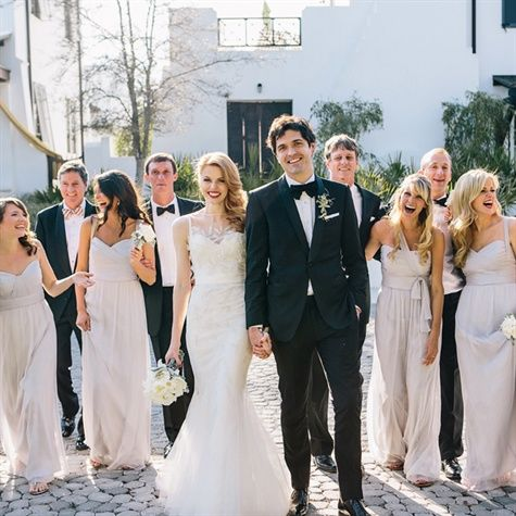Neutral Formal Bridal Party Looks