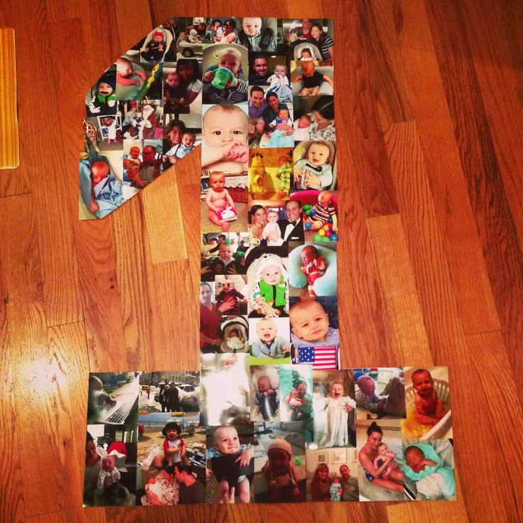 photo collage ideas for birthday - First birthday photo collage