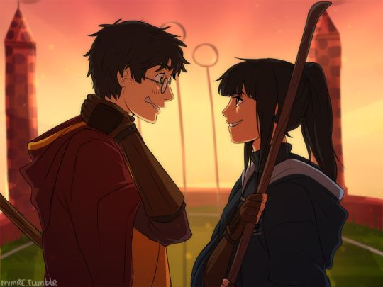 http://nymre.tumblr.com/tagged/cho-chang I don't ship it, but the art is good