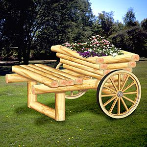 Landscape Timber Garden Cart DIY Woodcraft Pattern   Park This Cart  Anywhere In Your Yard Or Garden For Instant Beauty. X X Pattern By Sherwood  Creations
