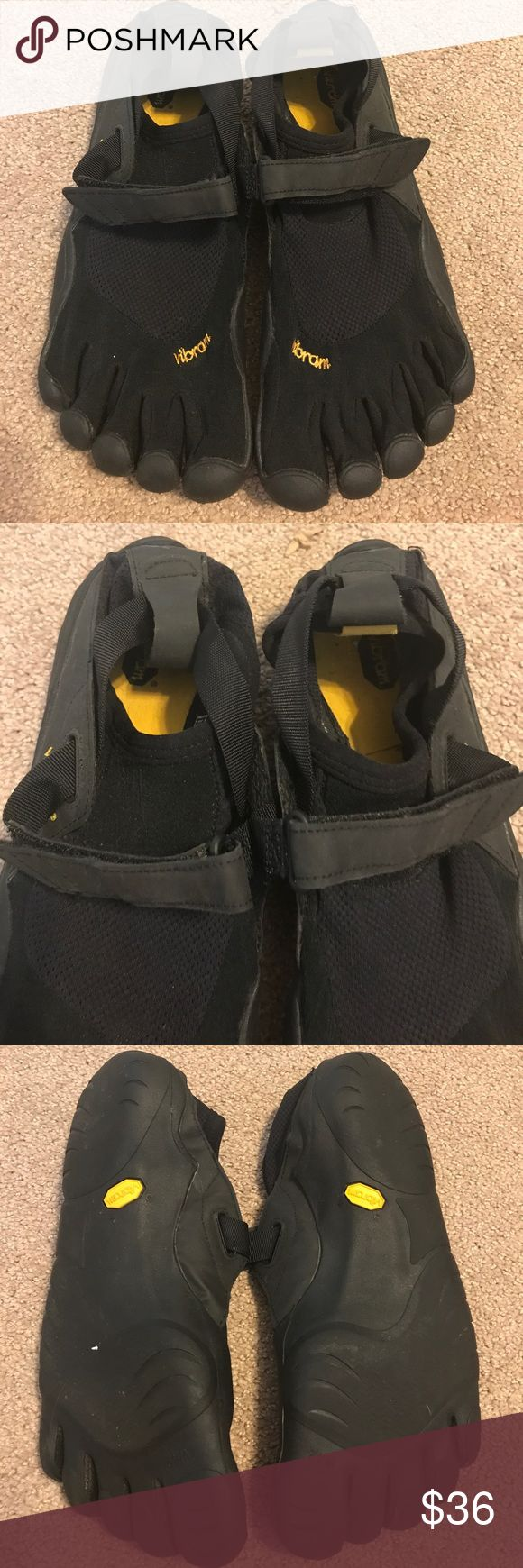 Vibram toe shoes with Velcro strap Barely used, some wear on inside heels. Size 42W (W 10) Vibram Shoes Athletic Shoes