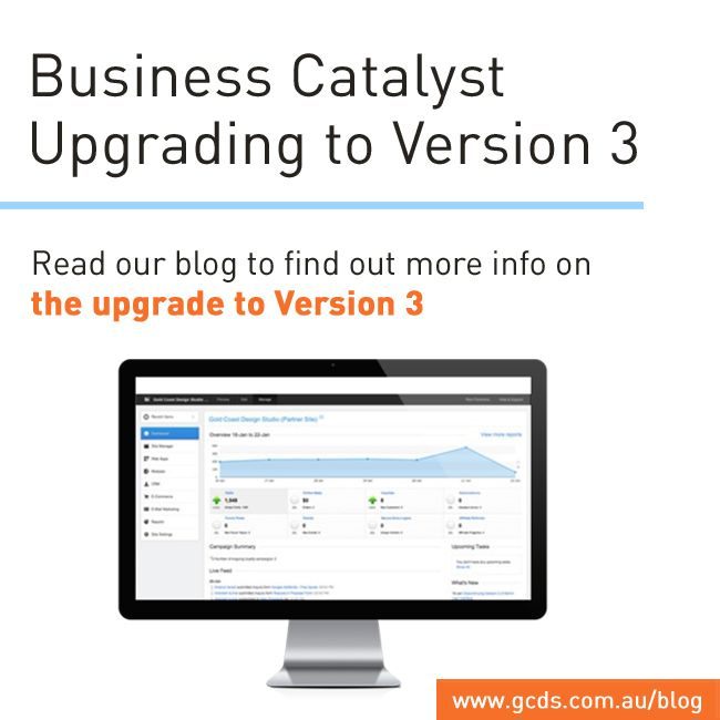 Adobe Business Catalyst is upgrading their admin interface to Version 3.   http://www.gcds.com.au/blog/business-catalyst-upgrading-to-version-3  Read our blog to find out more information on the upgrade!  #Adobe #BusinessCatalyst
