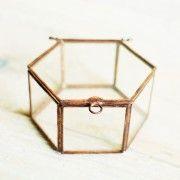 Szkatułka na obrączki sześciobok miedż |Sklep | ReBelle