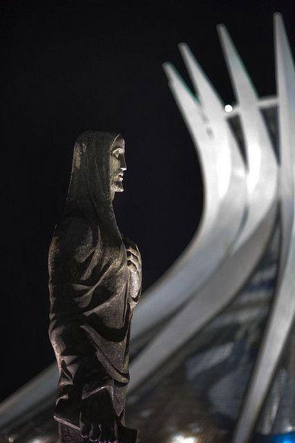 Brasilia, Brazil: National Cathedral at Night