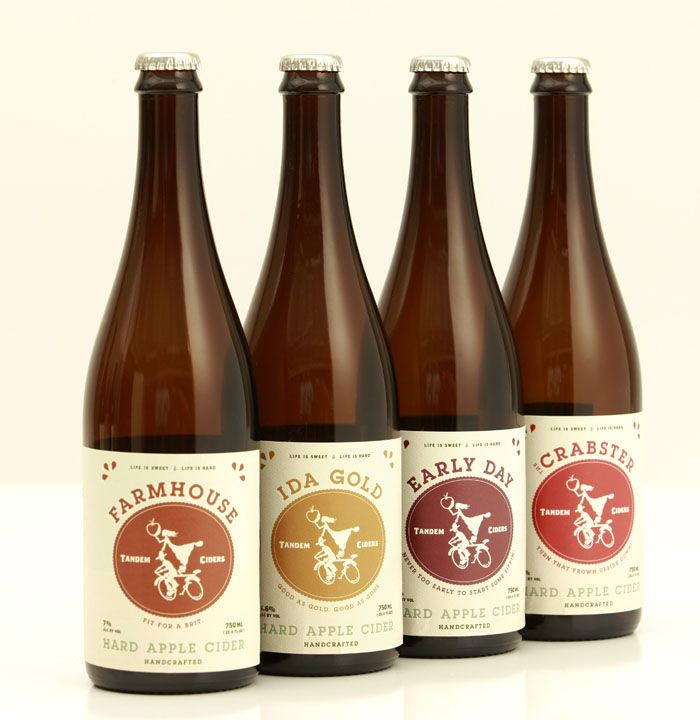 Love the cider here! Must stop in Traverse City! Tandem Ciders hard cider packaging. Lovely fresh yet authentic packaging