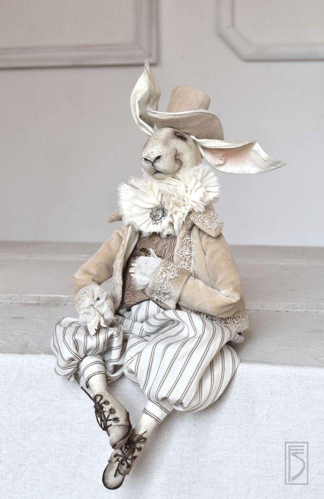 грунтованный текстиль, кролик, интерьерная кукла, мастер-класс, творческая…