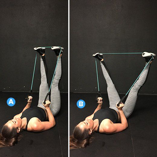 Squats  http://www.womenshealthmag.com/fitness/resistance-band-exercises-nikki-metzger?cid=soc_Women%27s+Health+-+Women%27s+Health+-+womenshealthmagazine_FBPAGE_Women%27s+Health__
