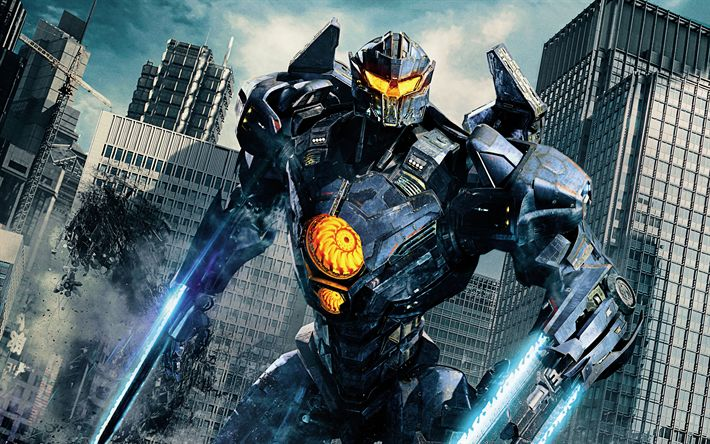 Download wallpapers Pacific Rim Uprising, cyber warrior, 4k, 2018 movie, poster, Pacific Rim 2