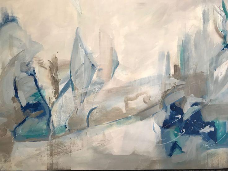 "Fleeting Moment (Athanasia Susie Colomvakos) Acrylic on canvas 30""x48"""