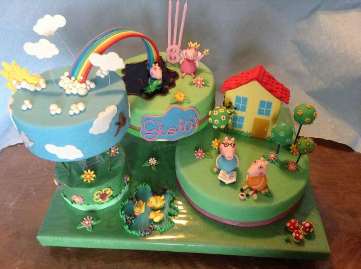 Peppa pig and the rainbow cake By KanDy.KiaraDenise