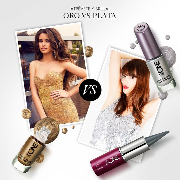 Colores dignos de una diosa, un esmalte de uñas metalizado será el toque final de glamour ¿Prefieres los tonos dorados o plateados?