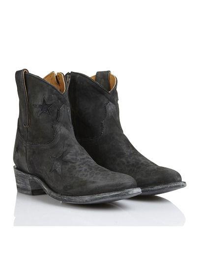 Boots Tristar en daim coupe santiag Noir by MEXICANA