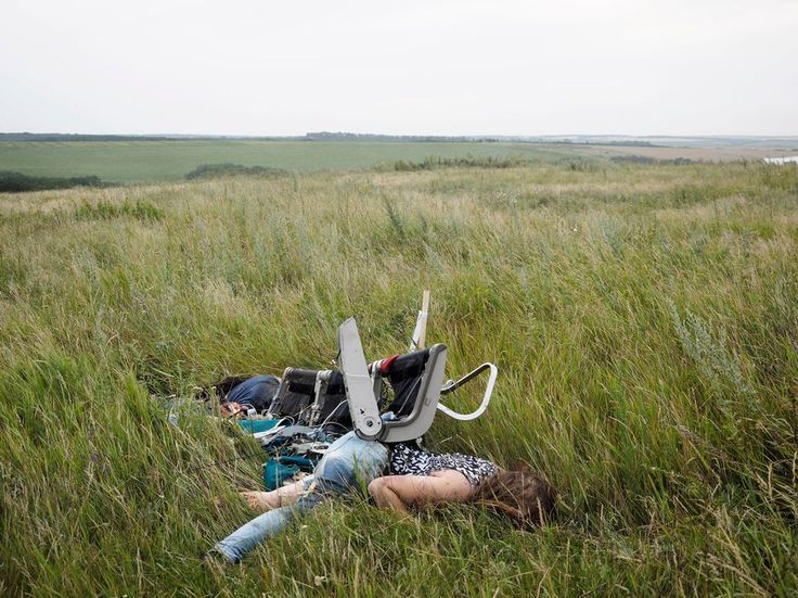 UKRAINE. Torez. July 17, 2014. Malaysian Airlines MH17 Magnum ...