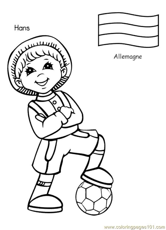 Children Around The World Coloring Page - Germany : Passport Project : Pinterest : School ...