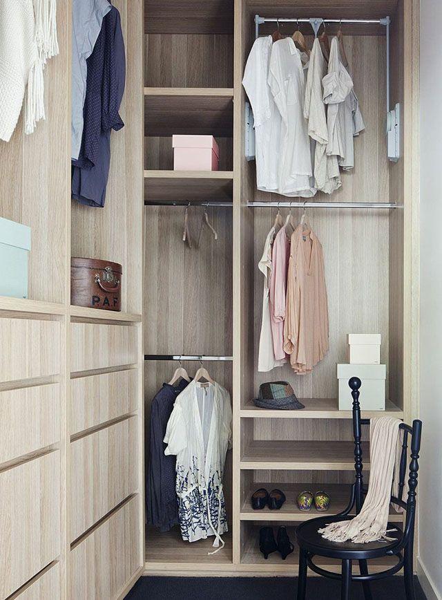 как организовать шкаф для хранения одежды