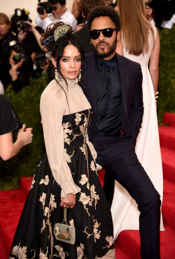 Pin for Later: Former Flames Lisa Bonet and Lenny Kravitz Arrive at the Met Gala Together