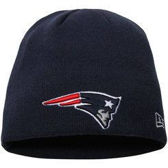 Men's New Era Navy New England Patriots Solid Uncuffed Knit Beanie