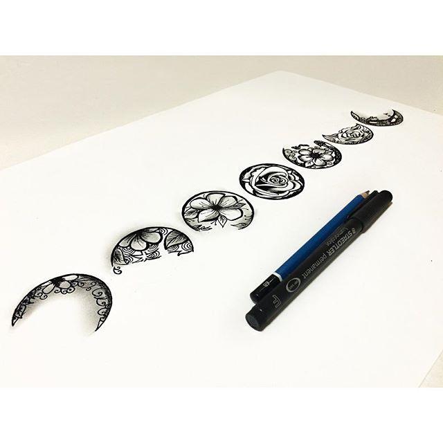 Las 25 Mejores Ideas Sobre Tatuaje De La Fase Lunar En Pinterest Y M 225 S Tinta Tatuajes De Luna