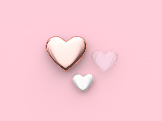 Pink White Clear Heart Valentine 3d Rendering Pink Tumblr Aesthetic Rose Gold Wallpaper Pastel Pink Aesthetic White gold pink hd wallpaper