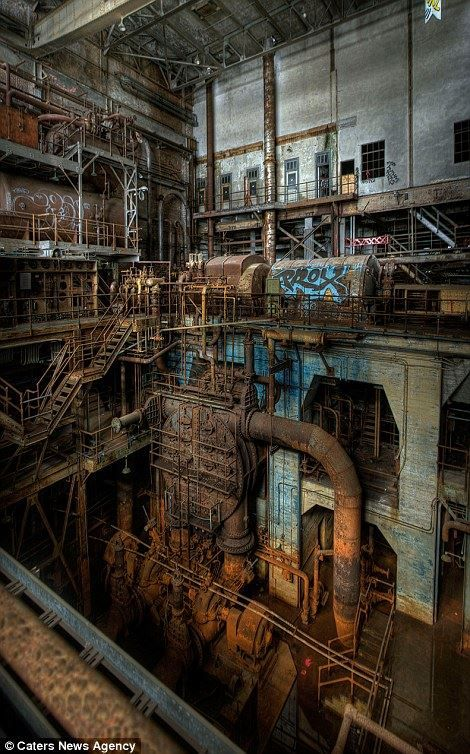 Picture of some abandoned machine plant