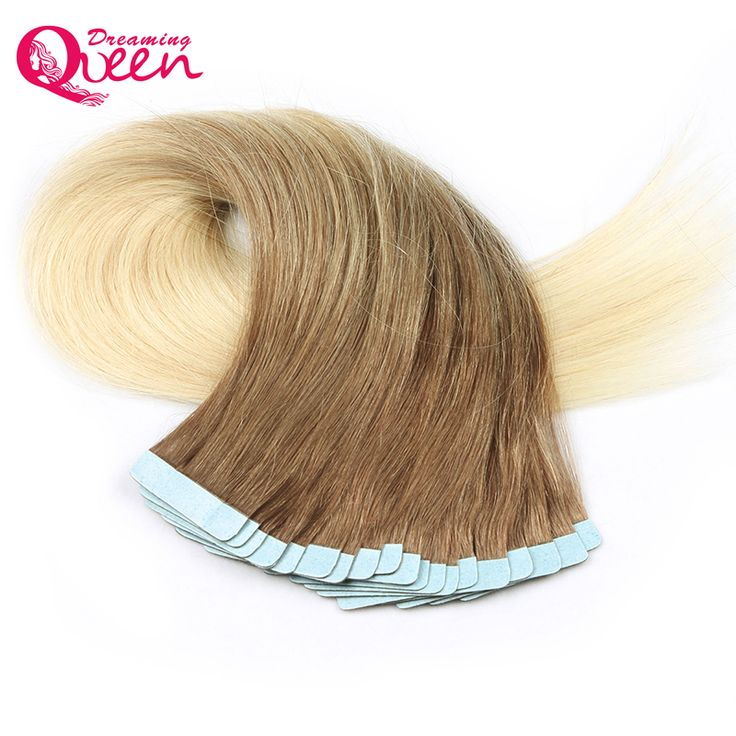 Dreaming Queen Hair Tape In Remy Human Brazilian Straight Extensions Color Skin Weft