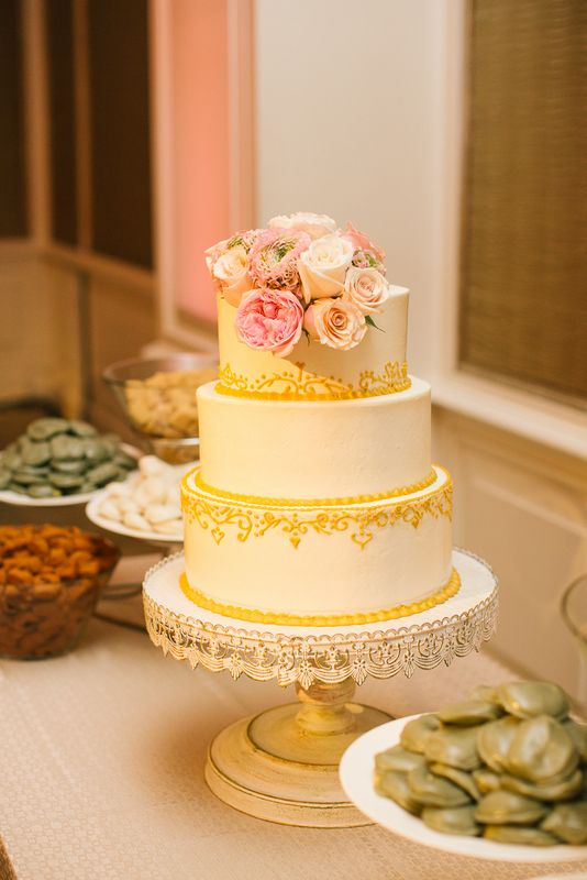 white peach and gold wedding cake 17 best images about amp gold wedding on 27306
