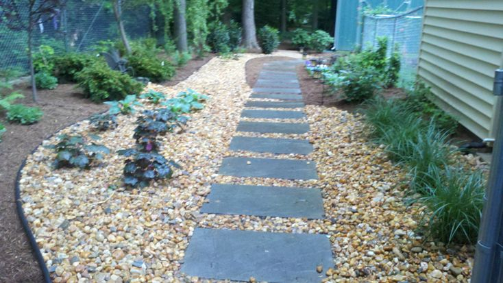 Pictures Of 8 X 16 Pavers And Gravel Sidewalk Walk Paths