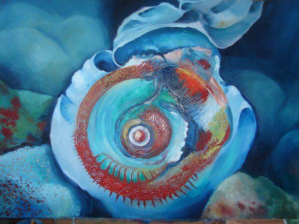 oil paint,abstrac,deep sea