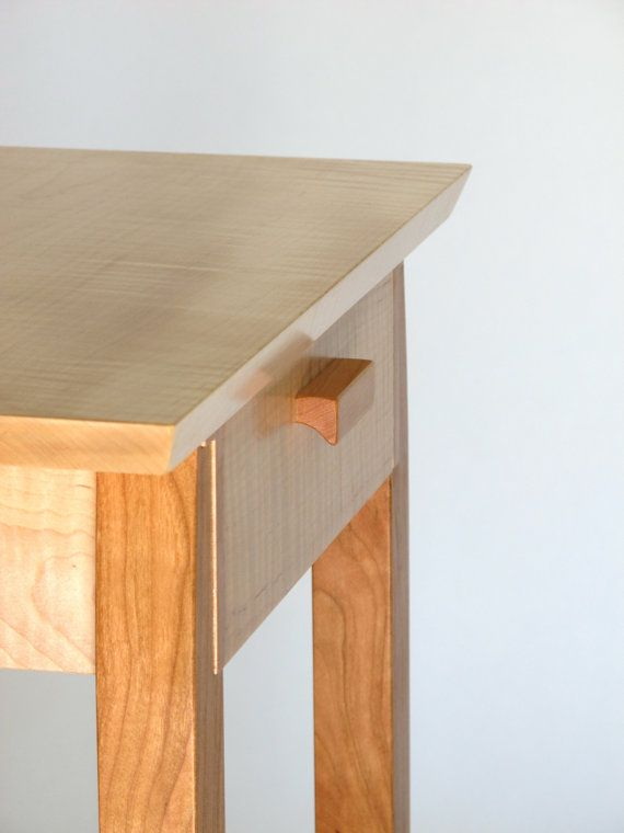 Who Doesnu0027t Need A Small Narrow Table With A Drawer? This Solid Wood